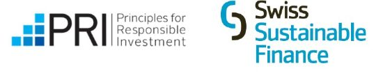 Labels für Principles for Responsible Investment und Swiss Sustainable Finance